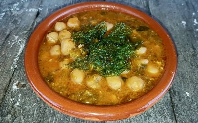 Garbanzos con algas
